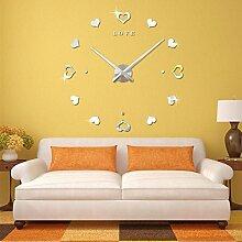 Ludage Wandbehang DIY Quarz Uhr Wohnzimmer