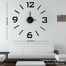 Ludage Wandbehang Quarz Uhr DIY Uhr Wohnzimmer