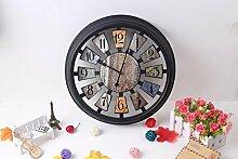 Ludage Wandbehang Wand Uhr stumm Wand Uhr Antik