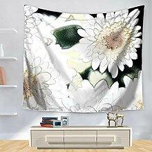 Ludage Wohnteppich, Blume Tapete Wand Dekoration