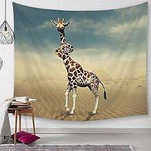 Ludage Wohnteppich Giraffe Drucken Wandteppich