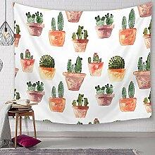 Ludage Wohnteppich Kaktus Wandteppich Digitaldruck