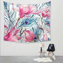 Ludage Wohnteppich Pfau-Tapete Wand Decke