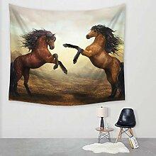 Ludage Wohnteppich Pferd Druck Tapete Wand Decke
