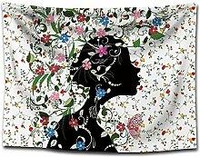 Ludage Wohnteppich, Schmetterling Girl Print