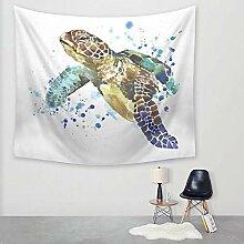 Ludage Wohnteppich Sea Turtle Drucken Wandteppich
