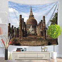 Ludage Wohnteppich Statue von Buddha Haus Wand
