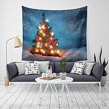 Ludage Wohnteppich, Weihnachten-Tapete verziert