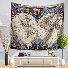 Ludage Wohnteppich Weltkarte Druck Tapete Wand