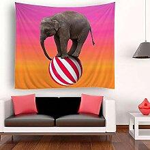 Ludage Zuhause Wandteppiche, Elefant Wandteppich