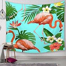 Ludage Zuhause Wandteppiche, Flamingo Digital