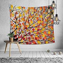 Ludage Zuhause Wandteppiche, Wald-Malerei