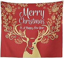 Ludage Zuhause Wandteppiche, Weihnachten Tapete