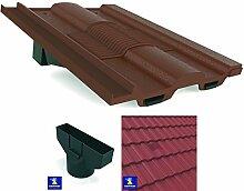 Ludlow Major braun Marley-Redland Renown (Würfelstruktur, Dach In, Line Tile Vent Ventilator &Flexi Rohr Rohr Adapter