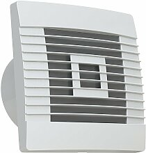 Lüfter Badlüfter Ventilator mit Jalousie mit Zugschalter Ø 100, 120, 150 mm Prestige (Ø 150)
