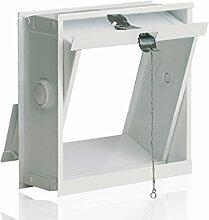 Lüftungsflügel für Glasbausteine 19x19cm - passend für 1 Glasstein im Format 19x19x8cm inkl. Zugvorrichtung