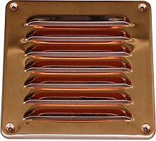 Lüftungsgitter 15,5 x 15,5 cm Kupfer