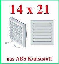 Lüftungsgitter Abschlussgitter Insektenschutz 14x21 cm Jalousie Ventilator T41