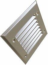 Lüftungsgitter Aluminium eloxiert 150 x 150mm incl. Insektenschutz