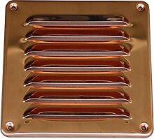 Lüftungsgitter aus Kupfer 195 x 195 mm