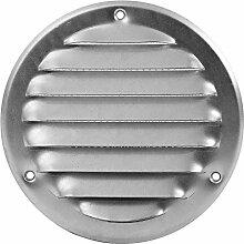 Lüftungsgitter Metall Insektenschutz Abluft Zuluft Rund Wetterschutz Lamellen Ø 100 mm verzink