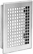 Lüftungsgitter mit Einbaurahmen Stahlblech weiß