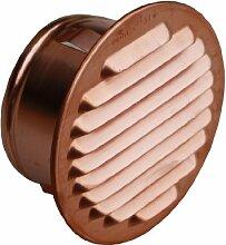 Lüftungsgitter rund Kupfer Stutzen Durchmesser 75-80 mm