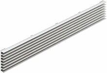 Lüftungsgitter Tür-Gitter Aluminium silber