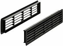 Lüftungsgitter Tür-Gitter schwarz Abluftgitter