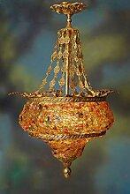 Lüster Glaslüster Echt Messing Barock antik Glas