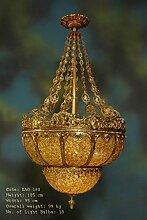 Lüster, Glaslüster, Messing Barock antik Glas
