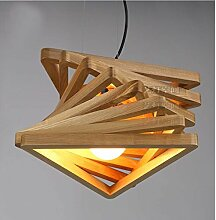 Lüster Kronleuchter Kronleuchter Proto,Massivem Holz Kronleuchter,Dreieck Illusion Pendelleuchte,Schlafzimmer Lamp enkolle