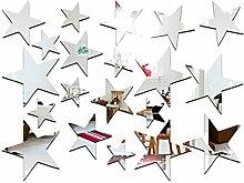 LUFA 20 Teile/Satz Sternform Spiegel Aufkleber 3D