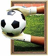 LUFA 45x60cm 3D Fußball-Spiel Spiel Muster