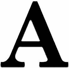 LUFA Englisch Buchstaben Spiegel Aufkleber 3D