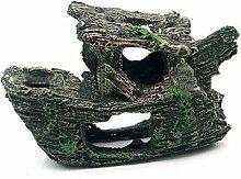 LUFA Wrack Wrack Höhlen Aquarium Verzierung Weihnachtsbaum Ornament Fisch Schiffs Boots Fisch Behälter Dekoration