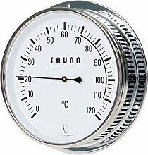 LUFFT - Sauna Thermometer mit Bimetall-Thermometer, Edelstahlgehäuse Ø 150 mm