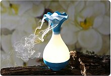Luft Luftbefeuchter USB Diffusor Ultraschall Luft-Aroma-Nebel-Luftbefeuchter Luftreiniger Steam Zerstäuber LED Humidifier Aromatherapie Öle Diffusor LED Night Light (Blau)