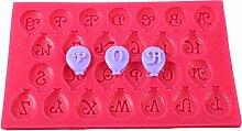 Luftballon Buchstaben Silikon Form ca 2 cm