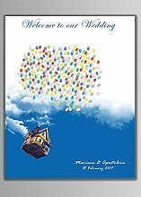 Luftballon Fingerabdruck Unterschrift Segeltuch