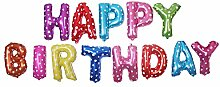 Luftballon Happy Birthday Girlande - in Gold,