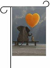 Luftballon mit Elefantenmotiv, Polyester, 30,5 x
