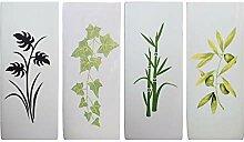 Luftbefeuchter 4-teiliges Set aus Keramik PLANTS