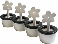 Luftbefeuchter 4er Set Blumentopf - runder Keramik-Verdunster, Keramik, 1010x16cm, weiß von WENKO