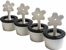Luftbefeuchter 4er Set Blumentopf - runder