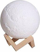 Luftbefeuchter 880Ml 3D Moon Lampe Airpurifier