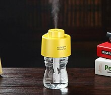 Luftbefeuchter Aromatherapie / spray GAP / Ultraschall Zerstäubung / /USB power Supply / mute / Strahlung / langfristige Befeuchtung / Auto / drehen / Mini Luftbefeuchter , yellow