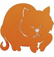 Luftbefeuchter Arti & Mestieri Katze Tolles Ronf Orange 11115C39