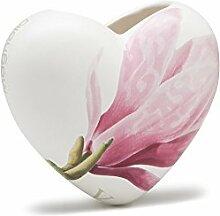 Luftbefeuchter aus Keramik Herz Magnolia