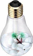 Luftbefeuchter Bereuchter Bleuchtung Diffuser 400ml Mini Kunststoff USB Verbindung Kleine Birnenförmige Luftbefeuchter
